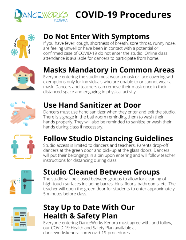 COVID-19 Procedures - Sign Format
